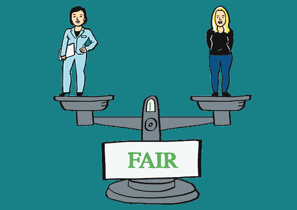weighing scales balancing fairness
